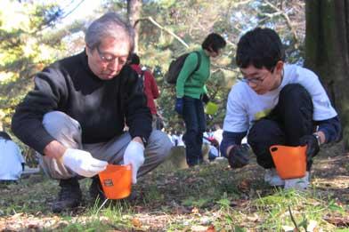 細川護煕さんと中学生