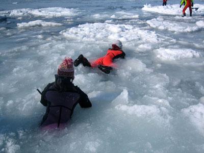 流氷ウォーキング
