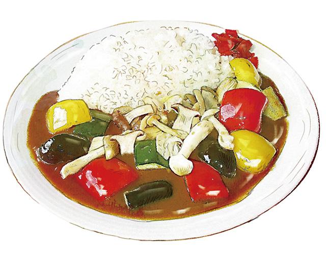 信州きのこと夏野菜のカレー