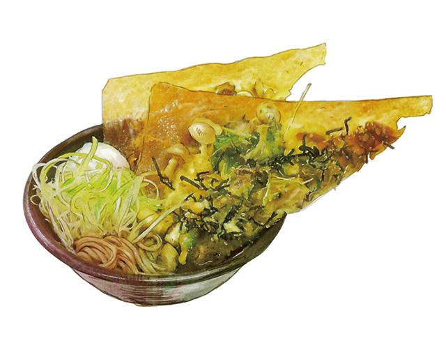 パリッと茸かき揚げ天ぷら蕎麦・うどん