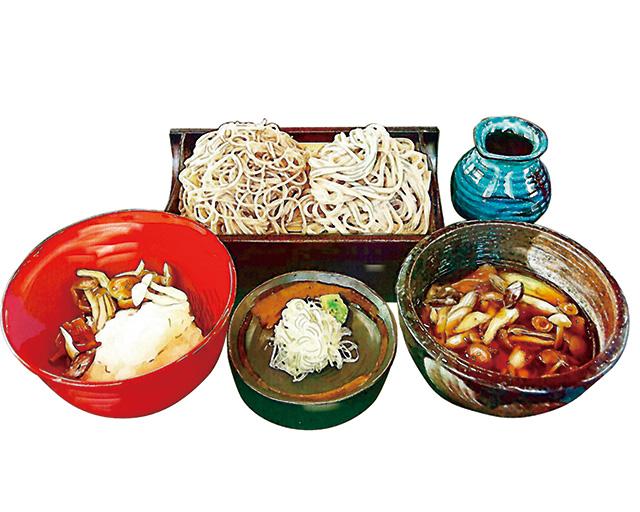 上州辛味おろしと信州きのこのつけ汁蕎麦・うどん
