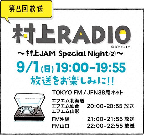村上radio Tokyo Fm 800mhz 村上春樹